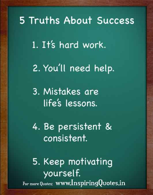 5 Truths about Success in Life Thoughts and Quotes Images Wallpapers