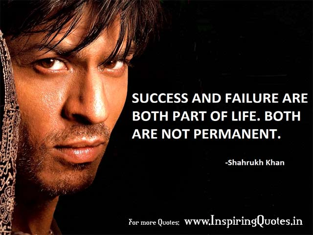 Shahrukh Khan Inspirational Quotes with Images Pictures Wallpapers