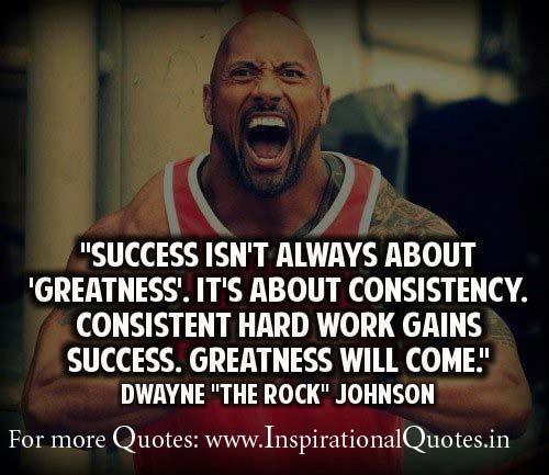 The Rock Inspirational Thoughts on Success - Inspirational ...