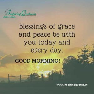 Blessing of Grace Good Morning Sayings Images