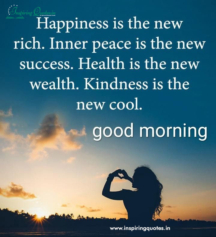 Happiness and kindness Morning Sayings Images