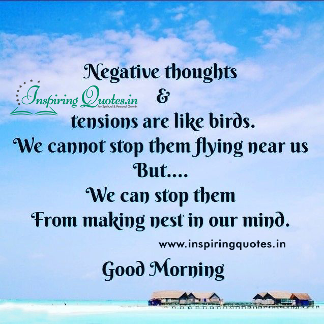 Negative Thoughts & Tensions Good Morning Pictures
